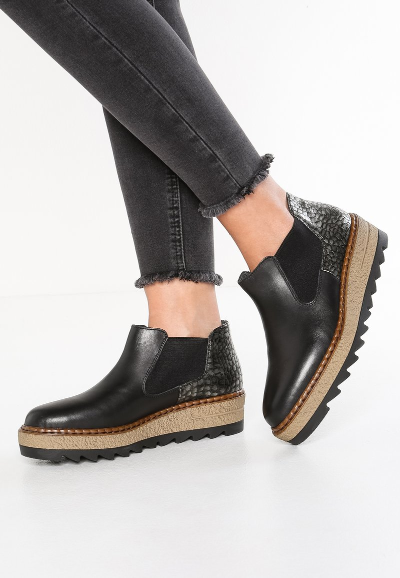 Rieker - Ankle boots - nero/altsilber