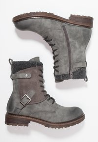 Rieker - Lace-up ankle boots - smoke - 3