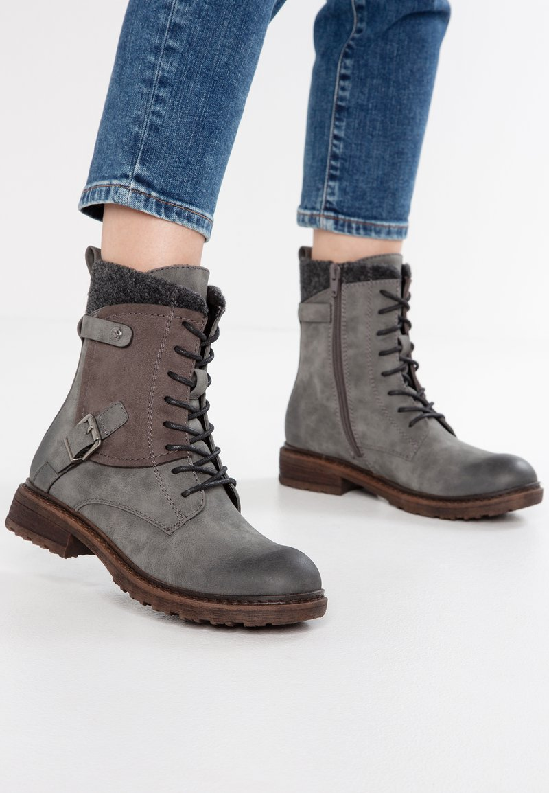 Rieker - Lace-up ankle boots - smoke