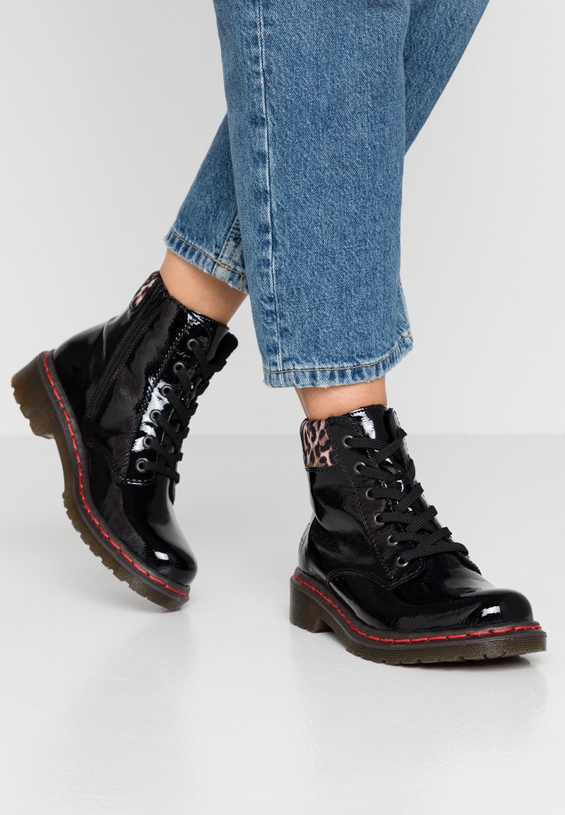 Rieker - Lace-up ankle boots - black/ginger