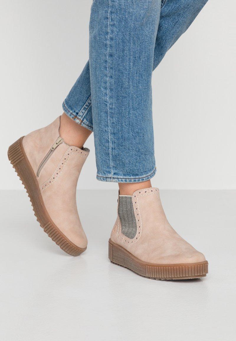 Rieker - Kotníková obuv - rosa