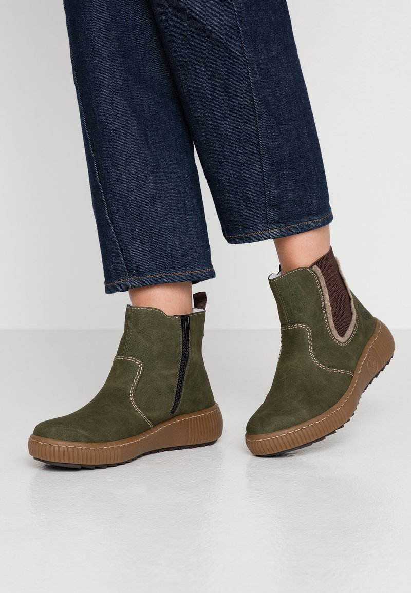 Rieker - Stivali da neve  - tanne/wood/brown
