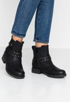 Kovbojské/motorkářské boty - schwarz/altsilber