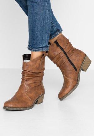 Cowboy/biker ankle boot - nuss