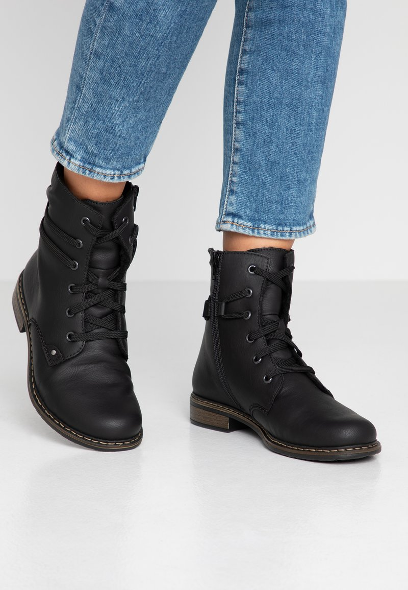 Rieker - Lace-up ankle boots - schwarz