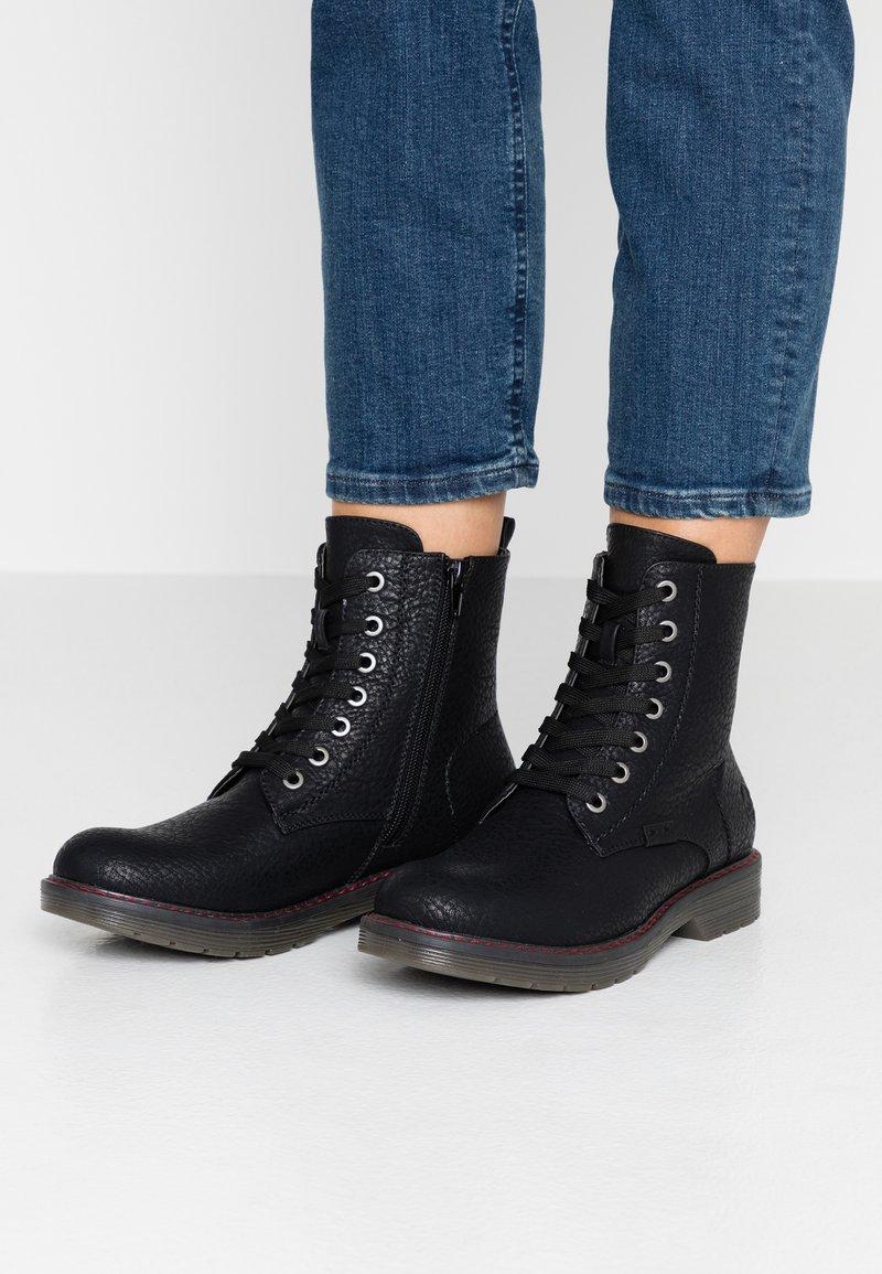 Rieker - Šněrovací kotníkové boty - schwarz