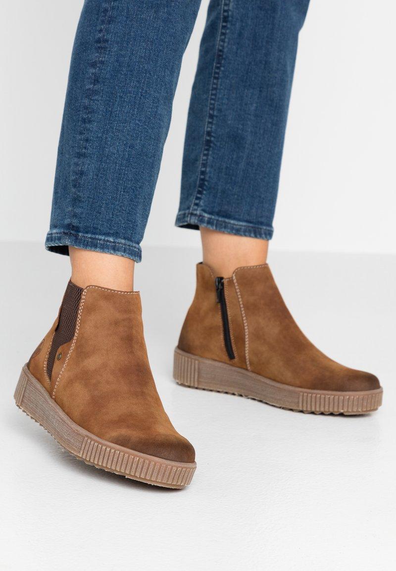 Rieker - Ankelstøvler - reh/brown