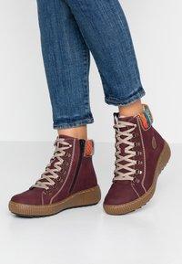 Rieker - Kotníkové boty na platformě - bordeaux/orange/multicolor/mogano - 0