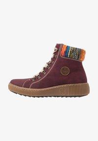 Rieker - Kotníkové boty na platformě - bordeaux/orange/multicolor/mogano - 1
