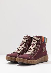 Rieker - Kotníkové boty na platformě - bordeaux/orange/multicolor/mogano - 4
