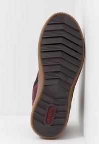 Rieker - Kotníkové boty na platformě - bordeaux/orange/multicolor/mogano - 6