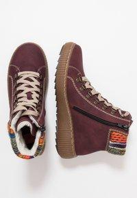Rieker - Kotníkové boty na platformě - bordeaux/orange/multicolor/mogano - 3