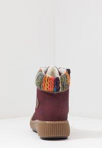 Rieker - Kotníkové boty na platformě - bordeaux/orange/multicolor/mogano - 5
