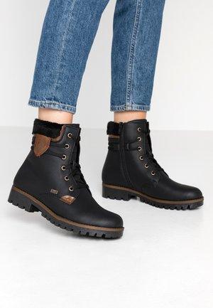 Lace-up ankle boots - schwarz/mogano/black