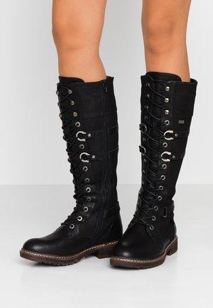 Lace-up boots - schwarz