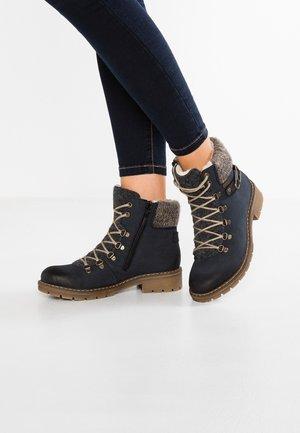 Lace-up ankle boots - pazifik/anthrazit/grafit