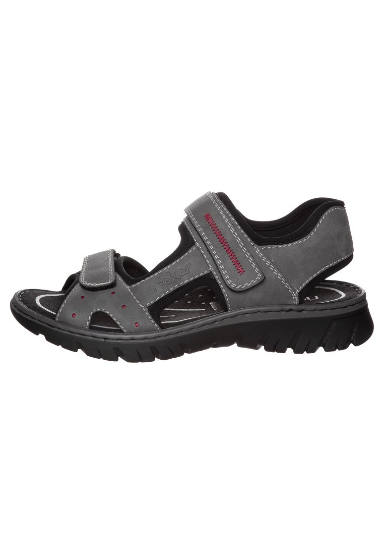Rieker Sandales - Cement/rot/schwarz