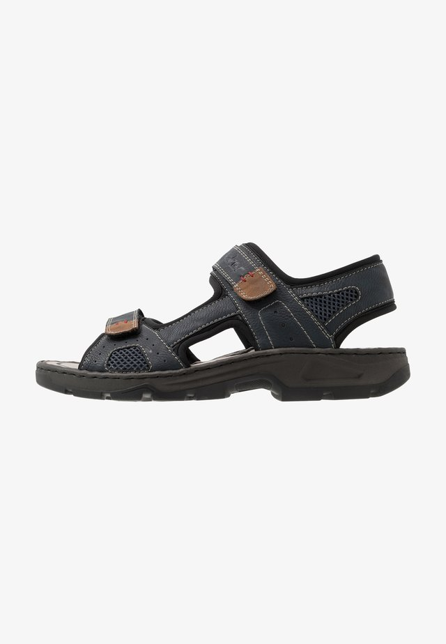 Walking sandals - lake/schwarz/atlantis/mandel