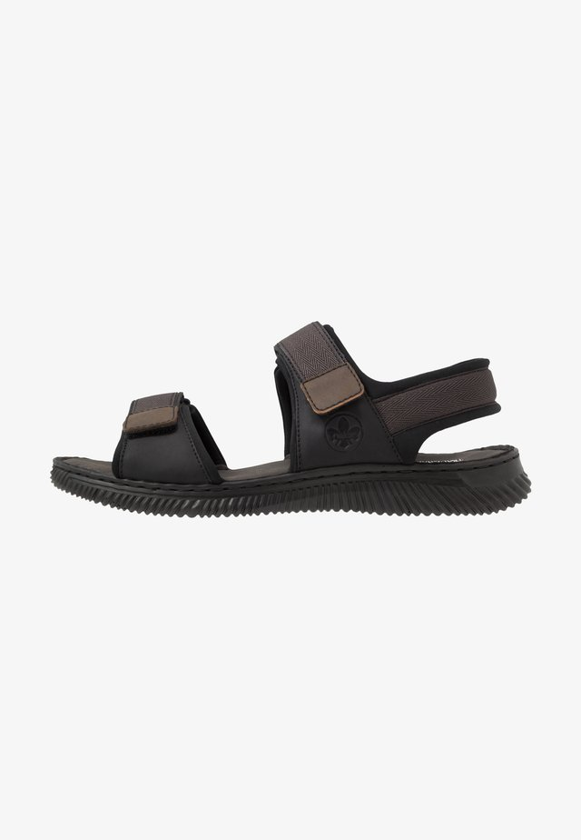 Walking sandals - schwarz/tabak
