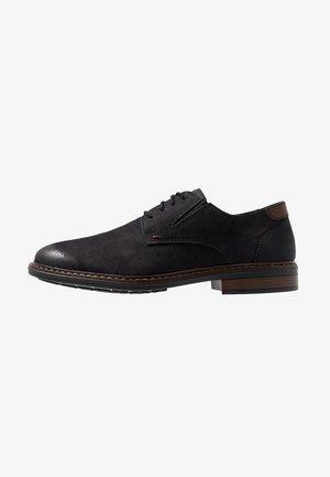 Šněrovací boty - schwarz/kastanie