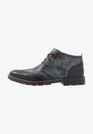 Volnočasové šněrovací boty - ozean/kastanie
