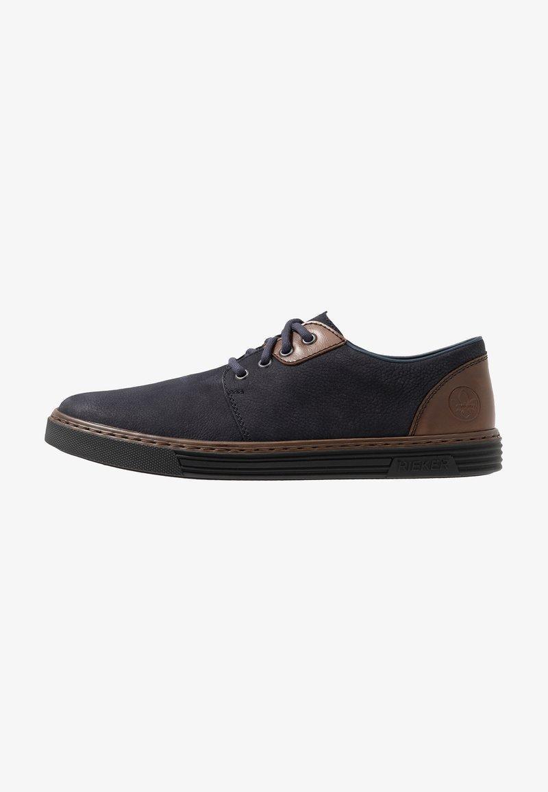 Rieker - Volnočasové šněrovací boty - navy/mogano