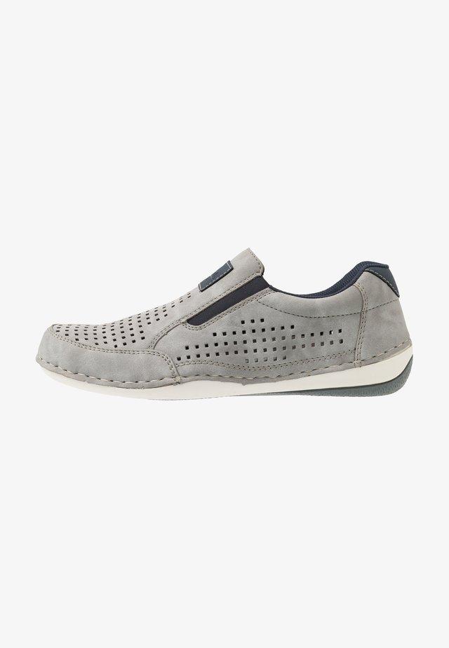 Slipper - grigio/navy