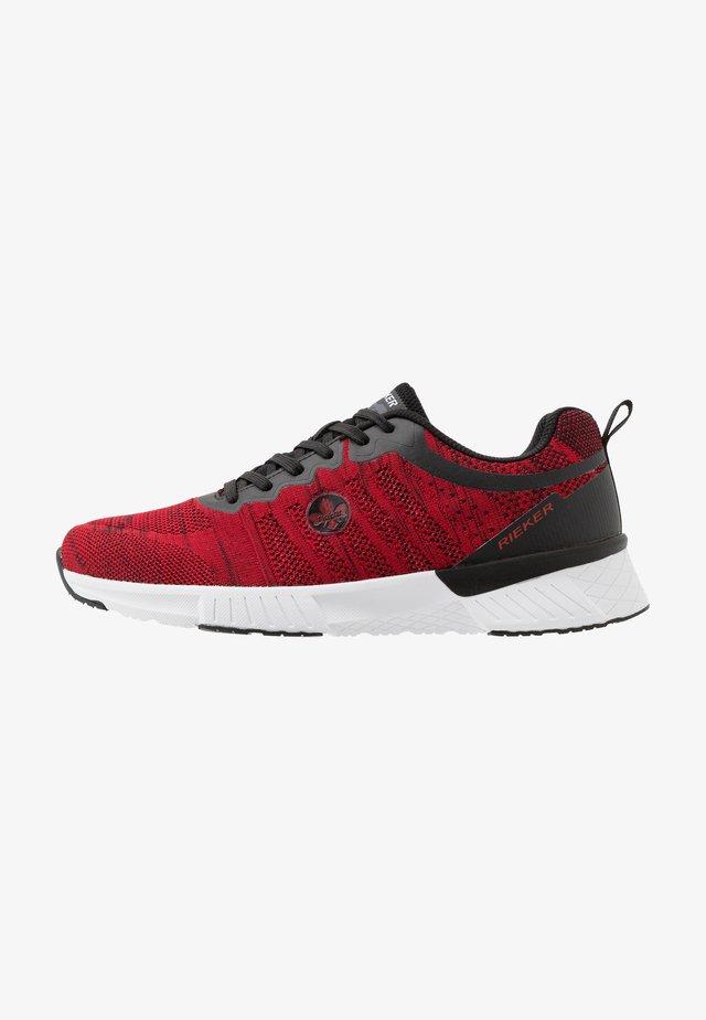 Sneaker low - rot/schwarz