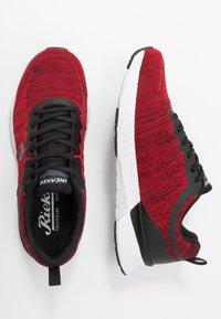 Rieker - Sneakers laag - rot/schwarz - 1