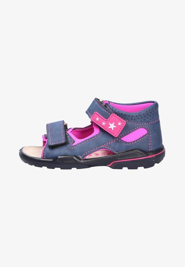 Walking sandals - neon pink