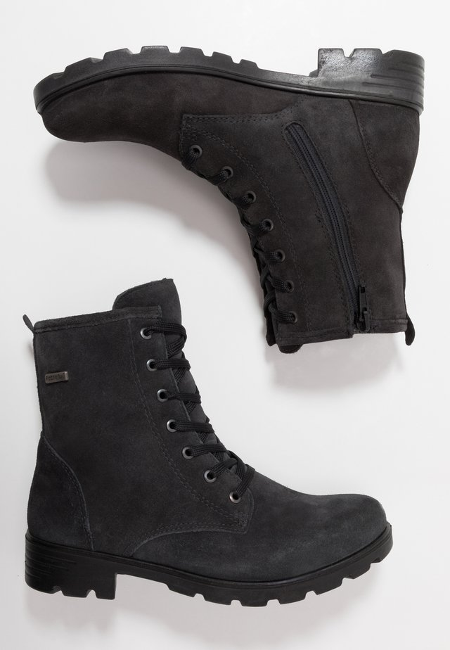 DISERA - Lace-up ankle boots - asphalt
