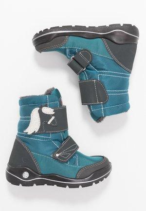 GAREI - Winter boots - petrol/grigio