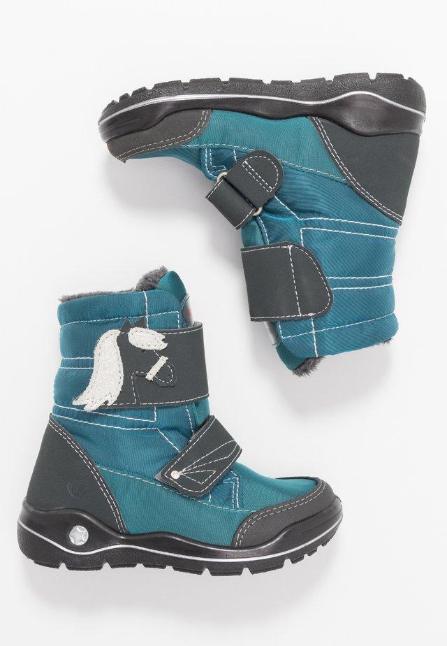 GAREI - Zimní obuv - petrol/grigio