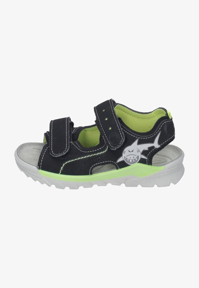 Walking sandals - black/neon yellow