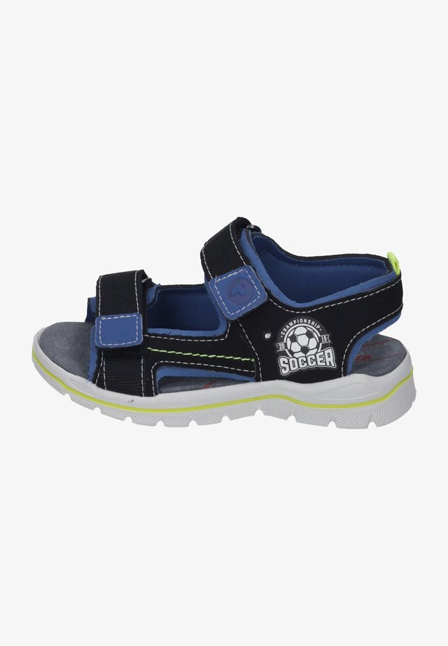 Walking sandals - black/azure