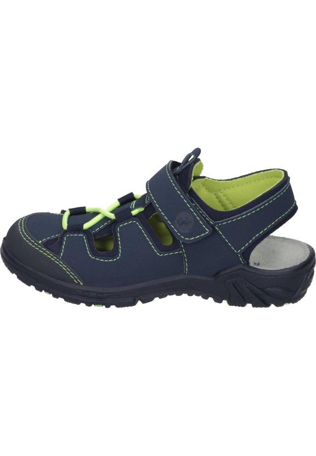 Walking sandals - jeans/ozean/neongelb