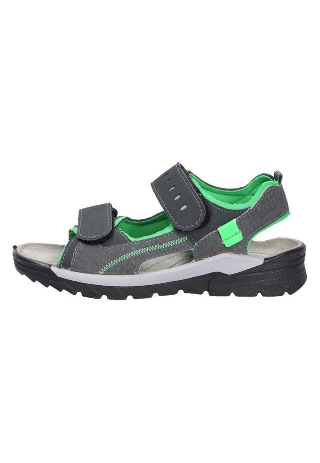 Walking sandals - anthraneongrn