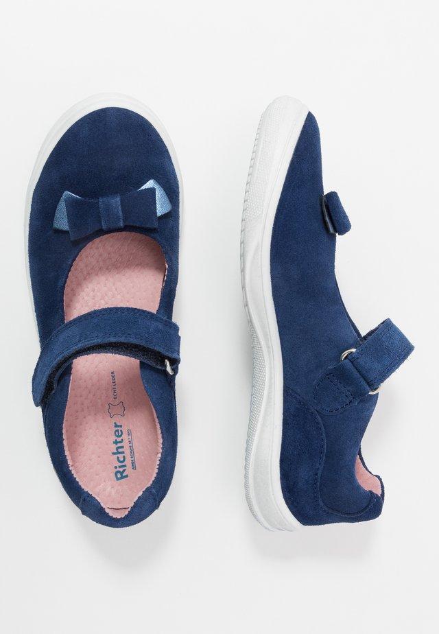 Ankle strap ballet pumps - nautical/atlantic