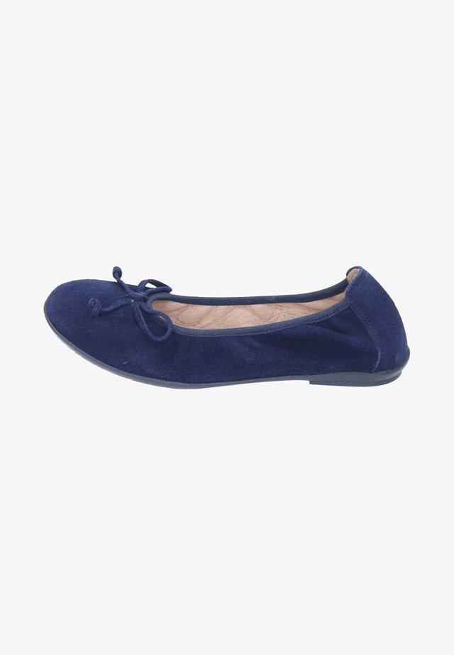 Foldable ballet pumps - blue