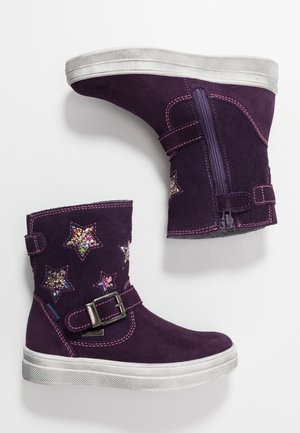 Bottines - blackberry/gold