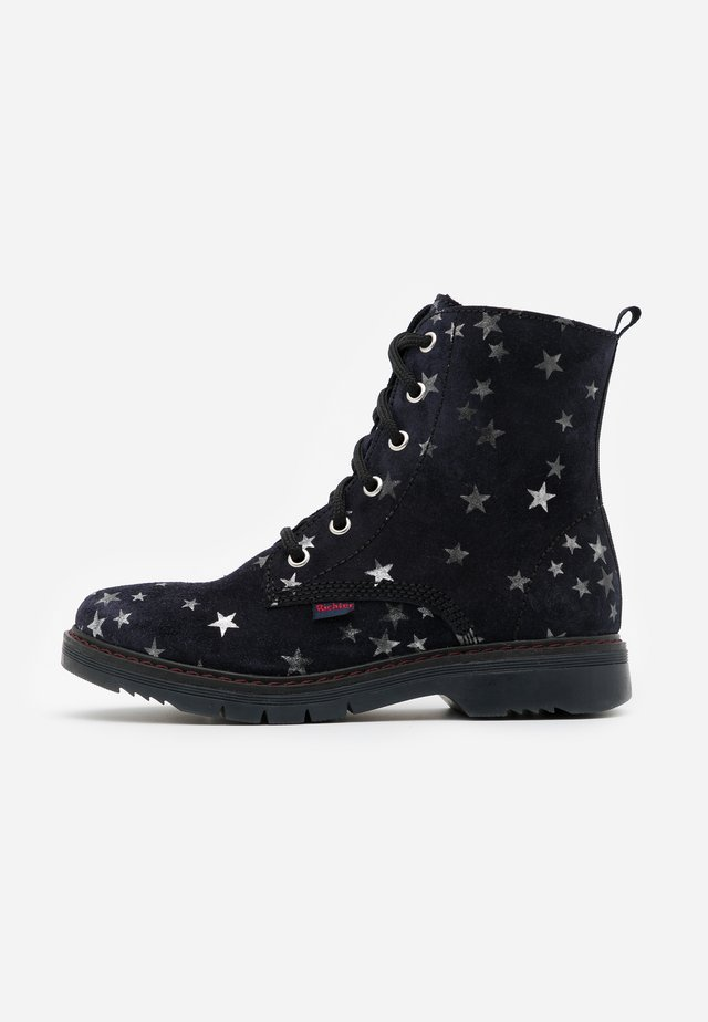 PRISMA - Lace-up ankle boots - blue