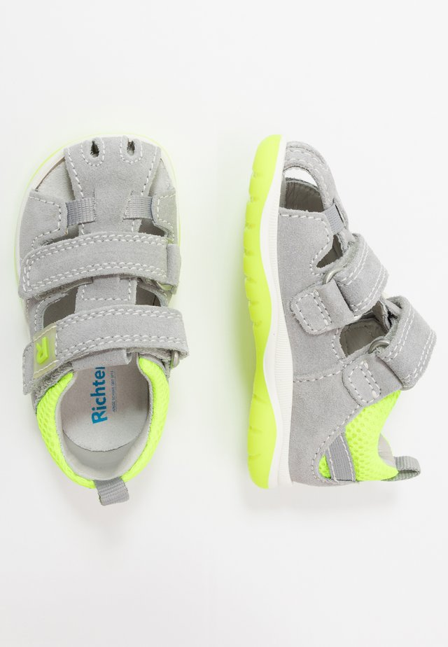 Sandals - fog/neon yellow