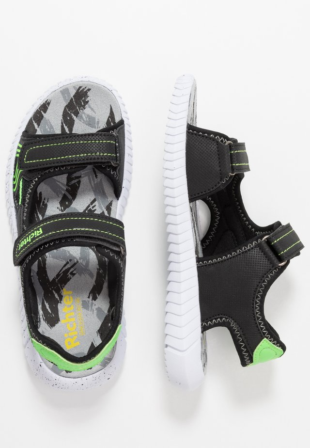 Walking sandals - black/green