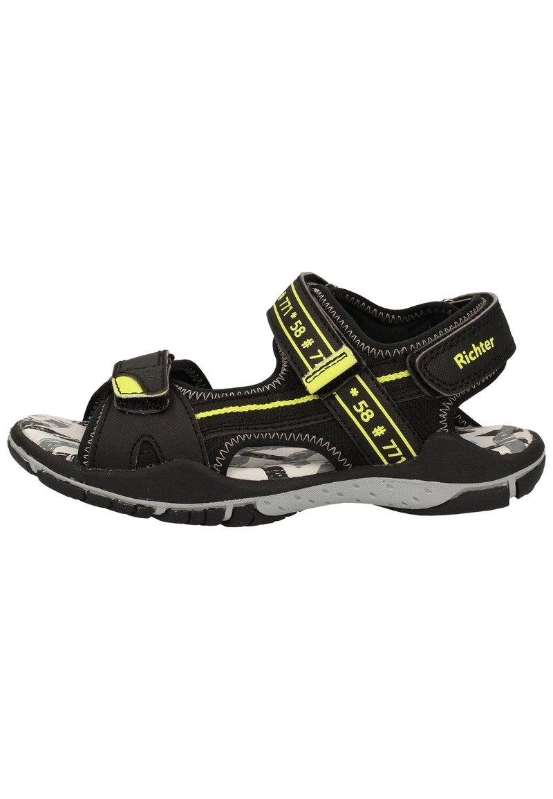 Richter - Trekkingsandaler - black/neon yellow 9902