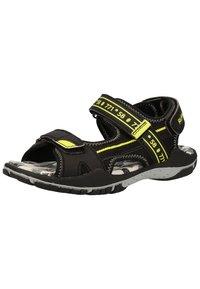 Richter - Trekkingsandaler - black/neon yellow 9902 - 3
