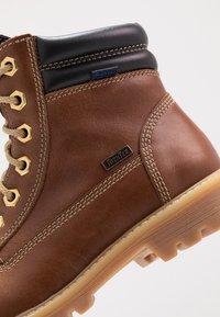 Richter - Lace-up ankle boots - cognac/black - 2