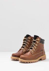 Richter - Lace-up ankle boots - cognac/black - 3