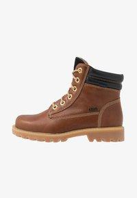 Richter - Lace-up ankle boots - cognac/black - 1