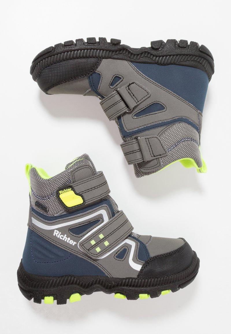 Richter - Winter boots - black/ash/atla/yellow