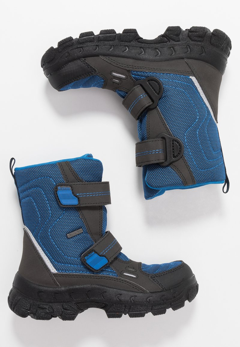 Richter - Winter boots - black/lagoon